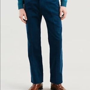 NWT Levi Sta-Prest Corduroy Trousers Blue Mens